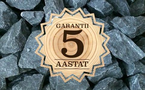 5 aastane garantii