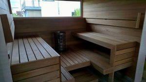 Sauna ehitus eramus