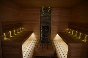 Sauna ehitus Tartu linnas. Keris SAWO Tower.