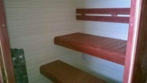 Värviline sauna lava